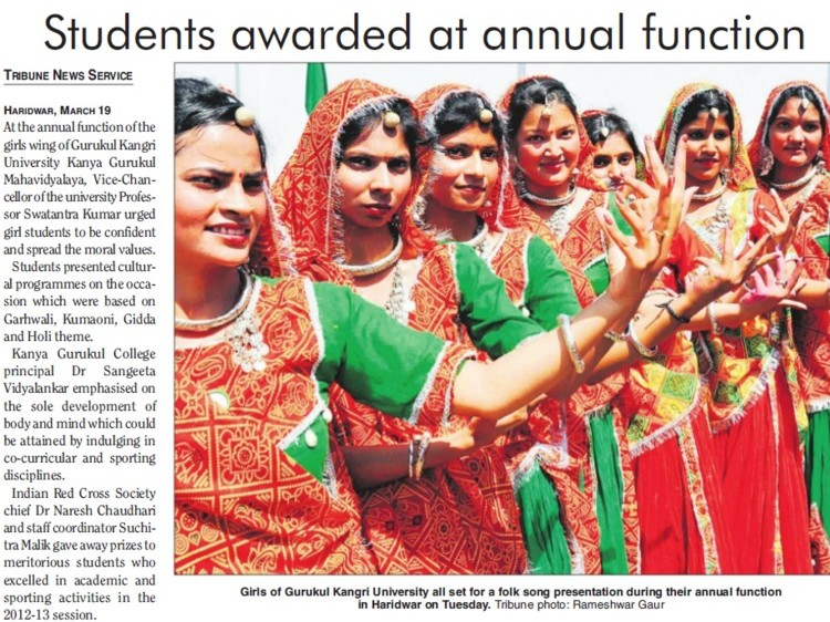 Students awarded at Annual Function (Gurukul Kangri Vishwavidyalaya)