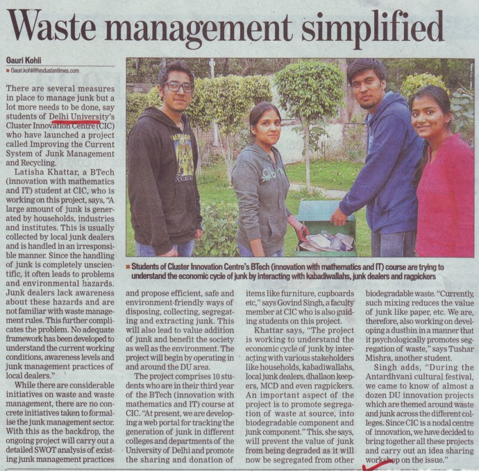 Waste Management simplified (Delhi University)