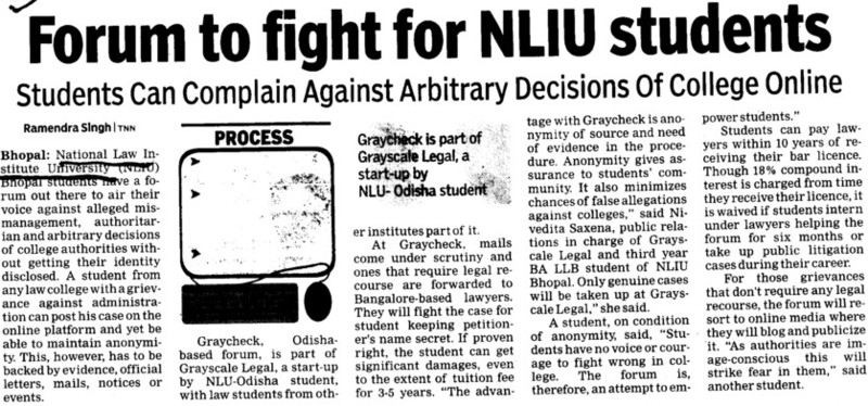 Forum to fight for NLIU students (National Law Institute University (NLIU))