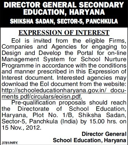 Design and Development works (Directorate of School Education Haryana)
