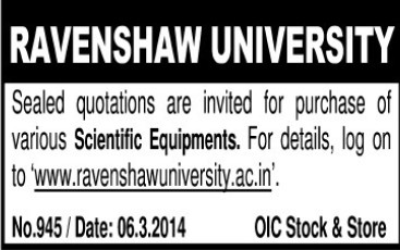 Purchase of Scientific equipments (Ravenshaw University)