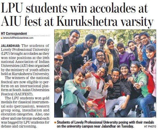 Students win accolades at AIU fest (Kurukshetra University)