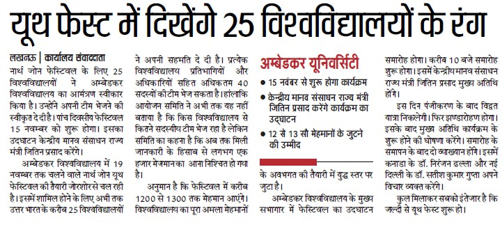 25 Universities participate in Youth fest (Babasaheb Bhimrao Ambedkar University)