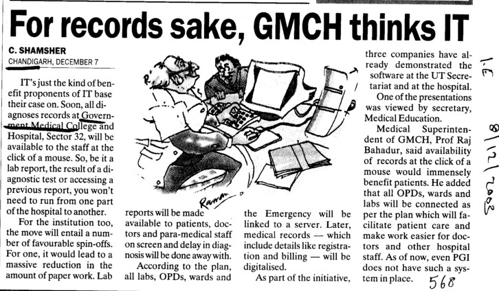 For records sake, GMCH thinks IT (Government Medical College and Hospital (Sector 32))