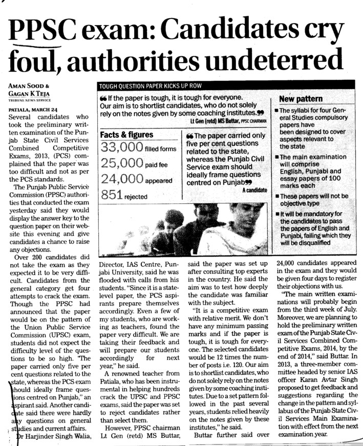 Candidates cry foul, authorities undeterred (Punjab Public Service Commission (PPSC))