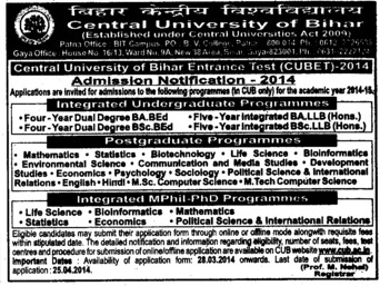 BSc and B Ed (Central University of Bihar)
