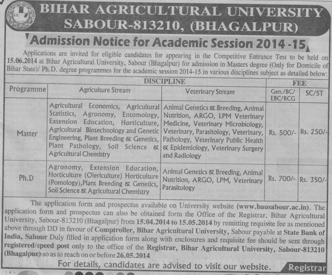 PhD in Agronomy and Extension Education (Bihar Agricultural University)