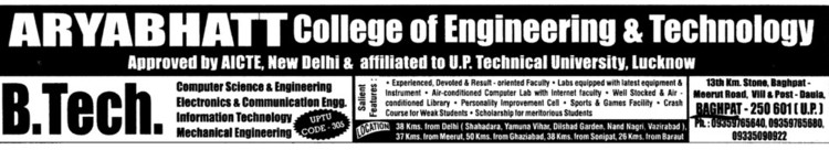 B Tech in CSE and ECE (Aryabhatta College of Engineering Jodhpur Cheema)