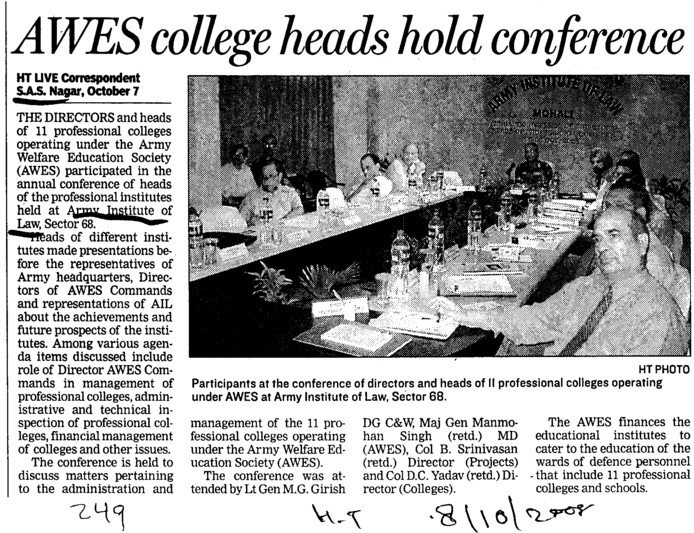 AWES college heads hold conference (Army Institute of Law)