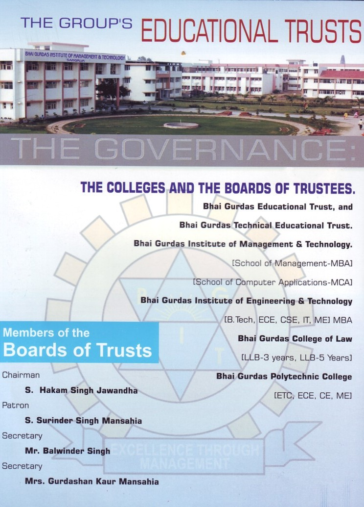 Member list of Bhai Gurdas Institute (Bhai Gurdas Institute of Management and Technology (BGIMT))
