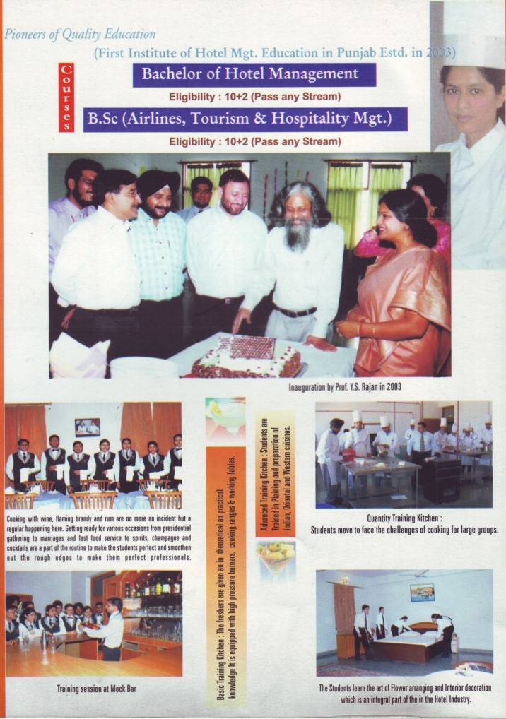 Bachelor of Hotel Management (Desh Bhagat Institute of Hotel Management and Catering Technology)