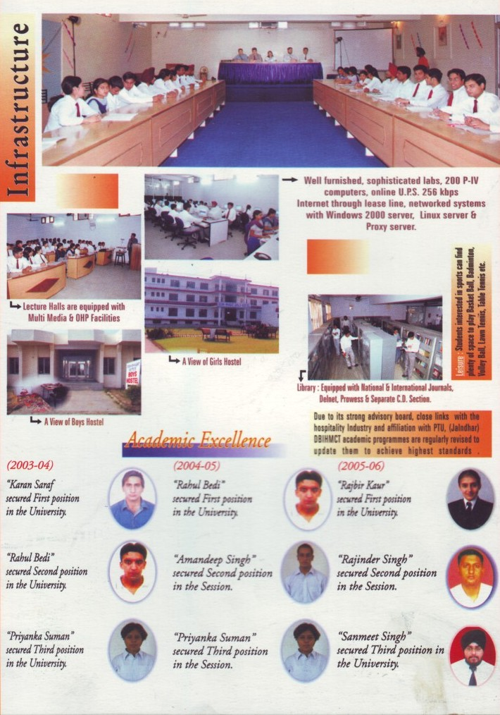 Infrastructure of BGIMT (Desh Bhagat Institute of Hotel Management and Catering Technology)