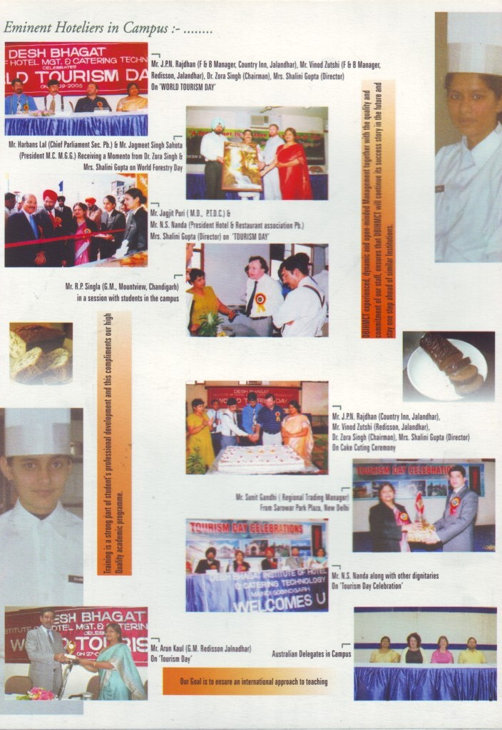 Eminent Hoteliers in Campus (Desh Bhagat Institute of Hotel Management and Catering Technology)