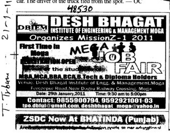 Job Fair held (Desh Bhagat Institute of Engineering and Management)