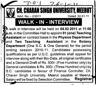 Teaching Assistant in Botany Department (Ch Charan Singh Haryana Agricultural University (CCSHAU))
