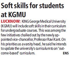 Soft skills for students at KGMU (KG Medical University Chowk)