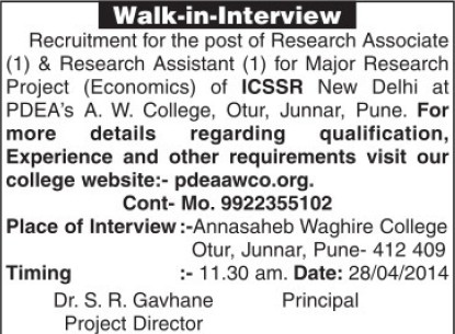 Research Assistant (Indian Council of Social Science Research)