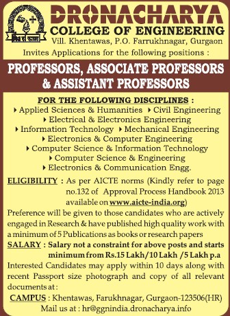 Associate Professor for Communication Engineering (Dronacharya College of Engineering (DCE))