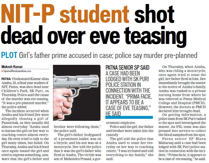 Students shot dead over eve testing (National Institute of Technology NIT)