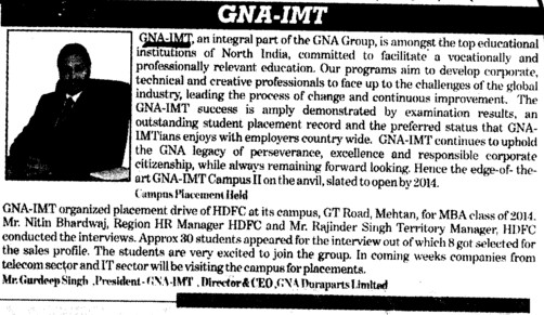 Director Gurdeep Singh speaks on GNA IMT (GNA Institute of Management and Technology)