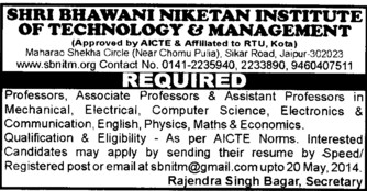 Asstt Professor in ECE and PCM (Shri Bhawani Niketan Institute of Technology and Management)