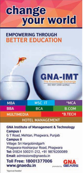 BBA, BCA and M Tech (GNA Institute of Management and Technology)