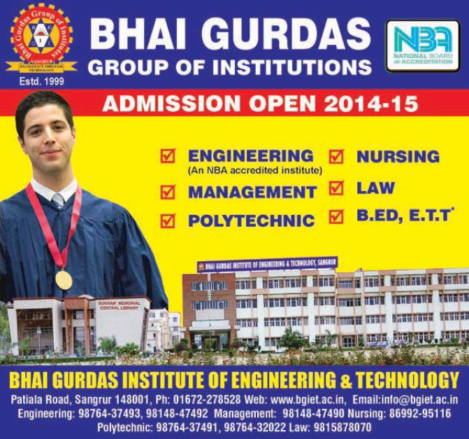 Management and Nursing Programme (Bhai Gurdas Group of Institutions)