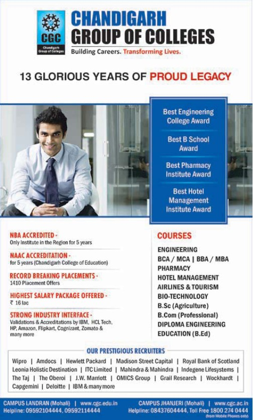 BBA and MBA Programme (Chandigarh Group of Colleges)