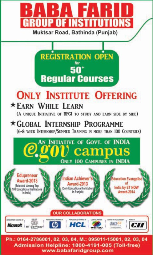 Global Internship Programme held (Baba Farid Group of Institutions)
