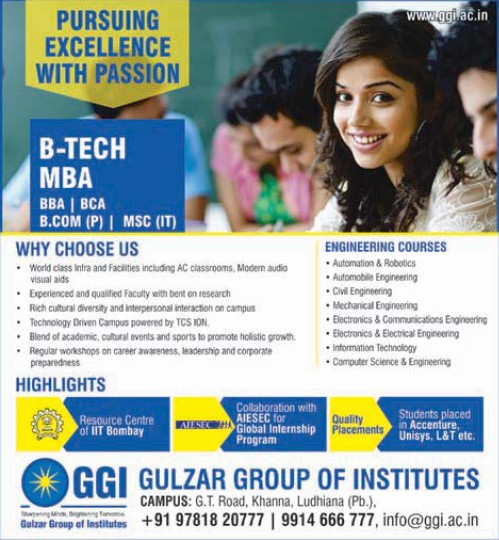 B Tech and MBA (Gulzar Group of Instituties Khanna)