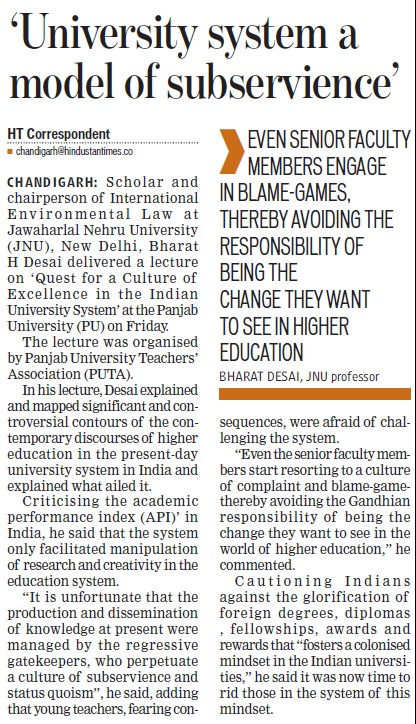 University system a model of subservience (Jawaharlal Nehru University)