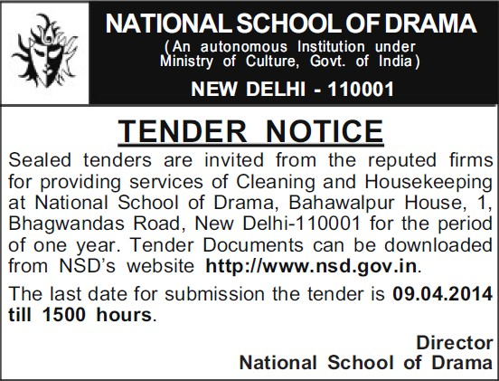 Providing cleaning services (National School of Drama)