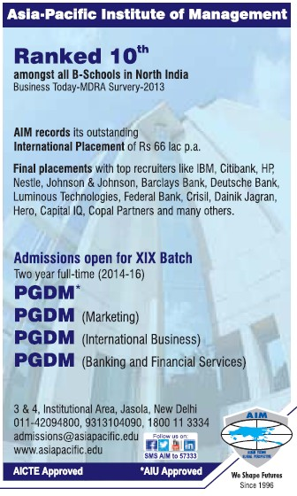 PGDM in Financial Services (Asia Pacific Institute of Management)