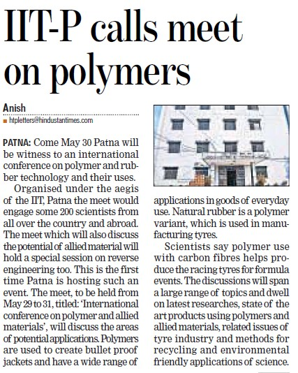 IIT P calls meet on polymers (Indian Institute of Technology IIT)