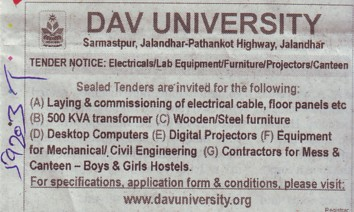 Supply of Steel Furniture (DAV University)