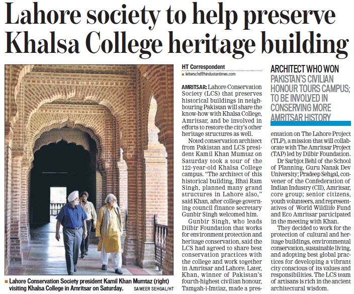 Lahore society to help preserve Khalsa College heritage building (Khalsa College)