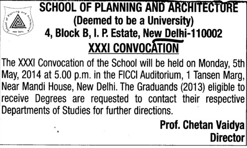 thesis school of planning and architecture delhi