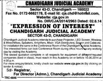 Purchase of projector (Chandigarh Judicial Academy)