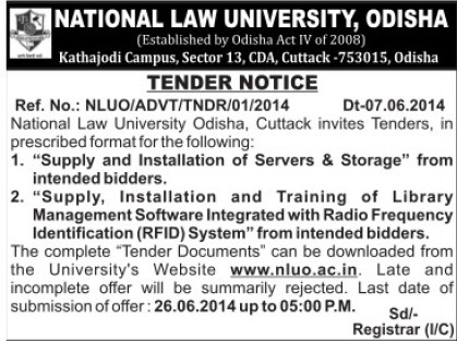 Installation of Servers from intended bidders (Hidayatullah National Law University (HNLU))