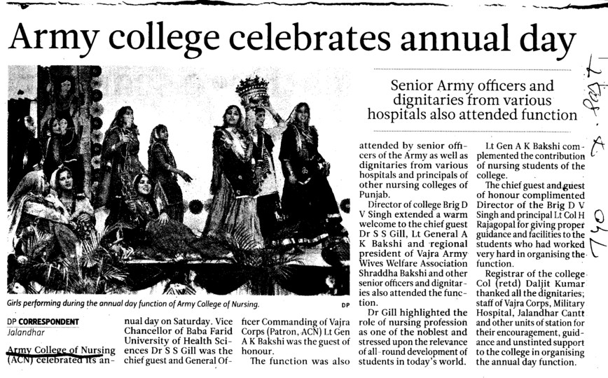 Army college celebrates annual day (Army College of Nursing)