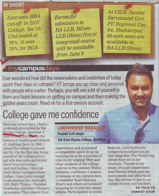 College gave me confidence (Khalsa College)