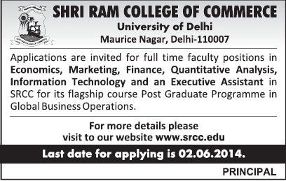 Executive Assistant (Shri Ram College of Commerce)
