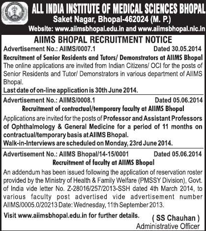 Senior Resident and tutor (All India Institute of Medical Sciences (AIIMS))