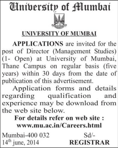 Director in Management Studies (University of Mumbai (UoM))