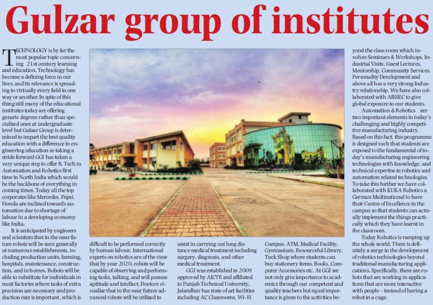 Profile of Gulzar Group of Institutions (Gulzar Group of Instituties Khanna)