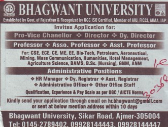 Administrative Officer (Bhagwant University)