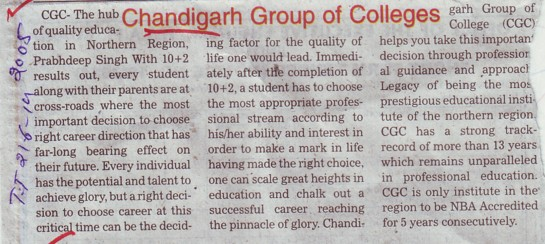 Profile of Chandigarh Group of Colleges (Chandigarh Group of Colleges)