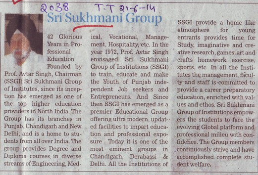 Profile of Sri Sukhmani Group (Sri Sukhmani Group of Institutes)