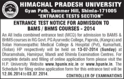 BAMS Course (Himachal Pradesh University)