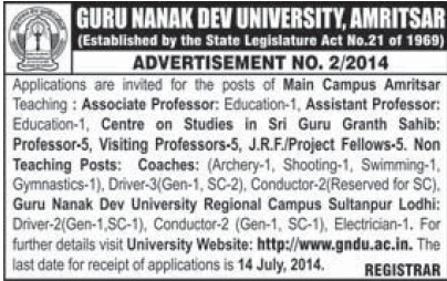 Asstt Professor and JRF (Guru Nanak Dev University (GNDU))